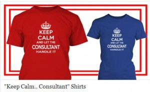 consultant keep calm shirt